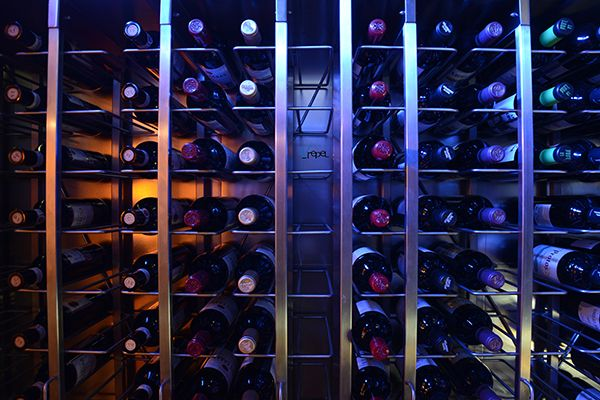 Urepel Restaurant - Wine cellar detail